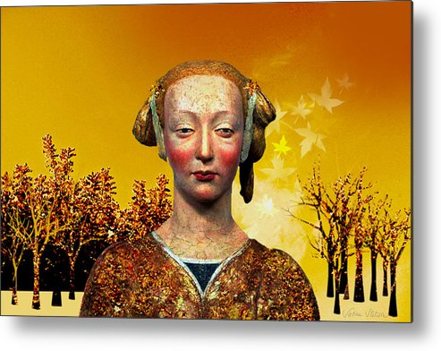 Portrait Metal Print featuring the digital art Constance by Sabine Stetson