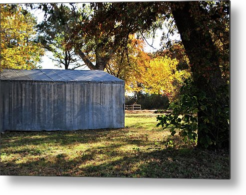 Country Metal Print featuring the photograph Country Shed by Mary J Hicks