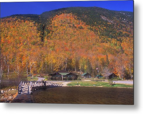 Autumn Metal Print featuring the photograph Crawford Notch Willey House by John Burk