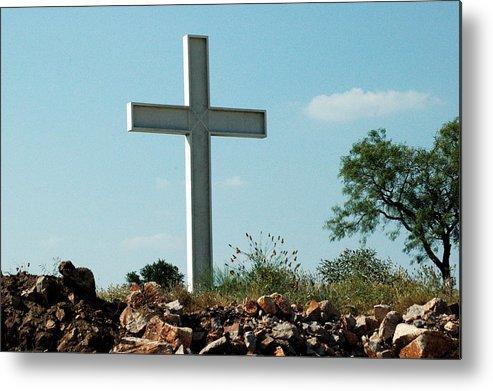 God Metal Print featuring the photograph Cross by Teresa Blanton