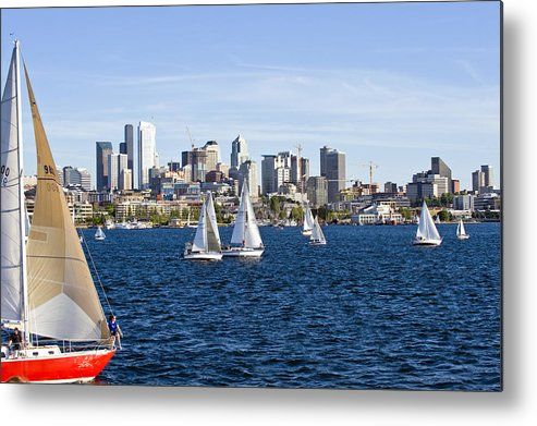 Seattle Metal Print featuring the photograph Cutting In by Tom Dowd