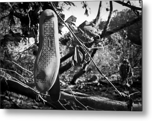 Shoe Metal Print featuring the photograph Dangled by Kevin Brett