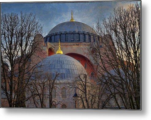 Hagia Sophia Metal Print featuring the photograph Dawn Over Hagia Sophia by Joan Carroll