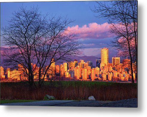 Vancouver Metal Print featuring the photograph Downtown Vancouver by Paul Kloschinsky