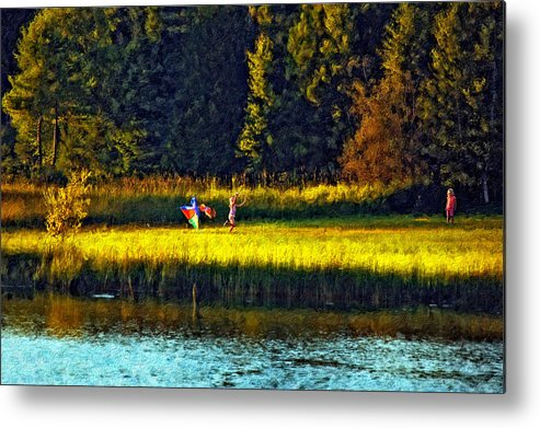 Kids Metal Print featuring the photograph Dreams Can Fly Impasto by Steve Harrington