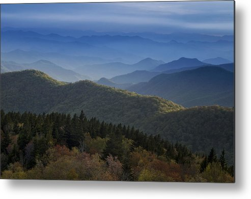 Blue Ridge Metal Print featuring the photograph Dusk On The Blue Ridge Parkway by Andrew Soundarajan