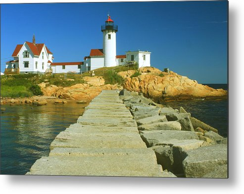 Lighthouse Metal Print featuring the photograph Eastern Point Lighthouse by John Burk