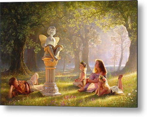 Kids Art Metal Print featuring the painting Fairy Tales by Greg Olsen