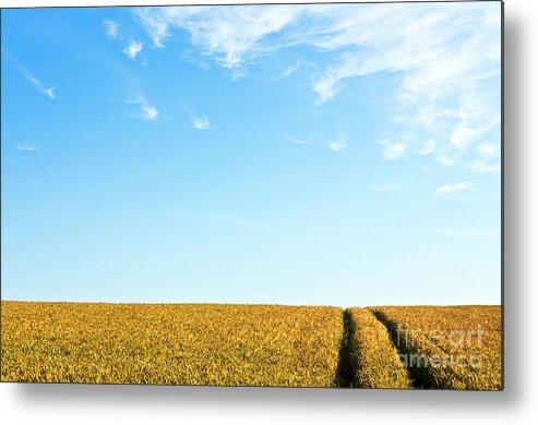 Europe Metal Print featuring the photograph Farmland To The Horizon 1 by Heiko Koehrer-Wagner