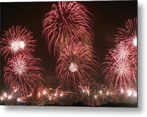 Fireworks Metal Print featuring the photograph Fireworks by Mark Mah