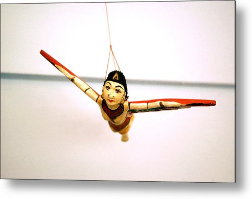 Flying Metal Print featuring the photograph Flying Lady by Kathi Shotwell