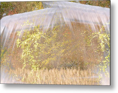 Abstract Landscape Metal Print featuring the photograph Fontaine Aux Fleurs by Mary Mansey