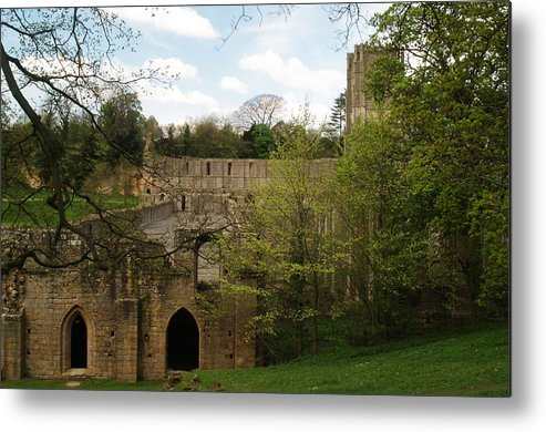 Ruin Metal Print featuring the photograph Fountains Abbey by Steve Watson