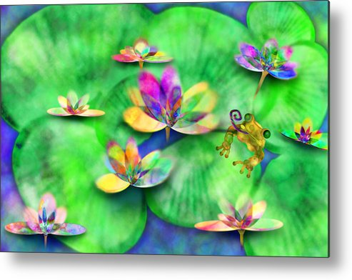 Frog Metal Print featuring the digital art Froggy by Gae Helton