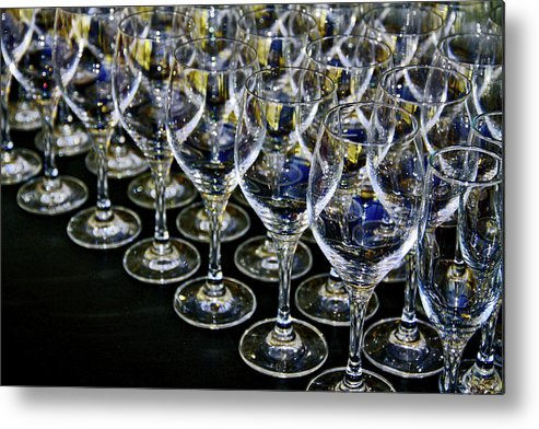 Flute Metal Print featuring the photograph Glass Soldiers by Stephen Mitchell