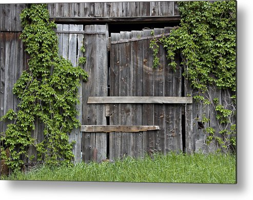 Barn Doors Metal Print featuring the photograph Glengarry Barn Doors by Jacqueline Milner