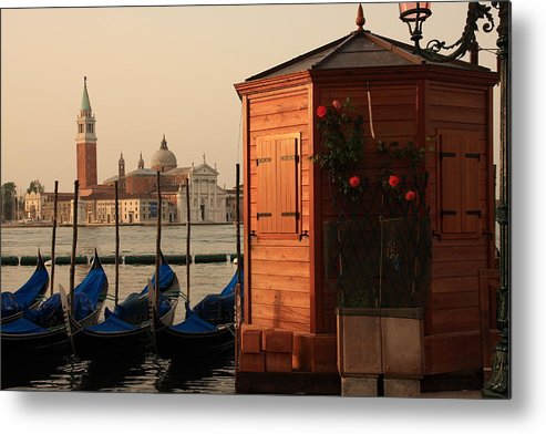 Venice Metal Print featuring the photograph Gondal Station At San Marco by Michael Henderson