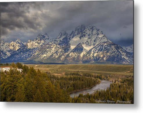 Grand Tetons Metal Print featuring the photograph Grand Tetons Snake River by Charles Warren