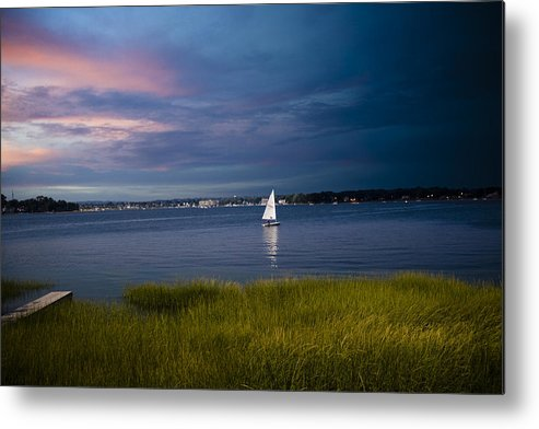Ocean Metal Print featuring the photograph Harborview Sunset by Joshua Francia