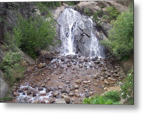 Landscape Metal Print featuring the photograph Helen Hunt Waterfall by Sarah Bauer