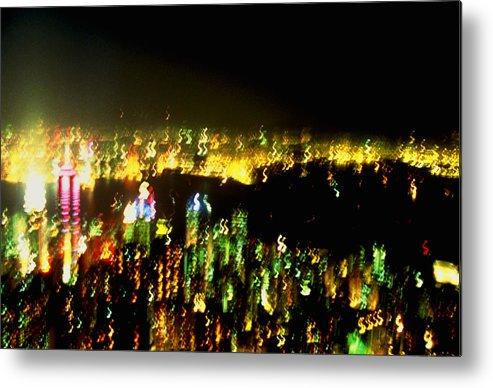 Hong Kong Metal Print featuring the photograph Hong Kong Harbor Abstract by Brad Rickerby