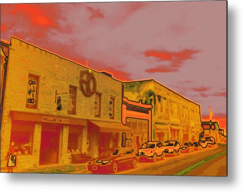 City Metal Print featuring the photograph Hot Streets by HE Webb