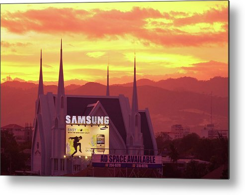 Insogna Metal Print featuring the photograph Iglesia Ni Cristo Sunset Cebu City Philippines by James BO Insogna