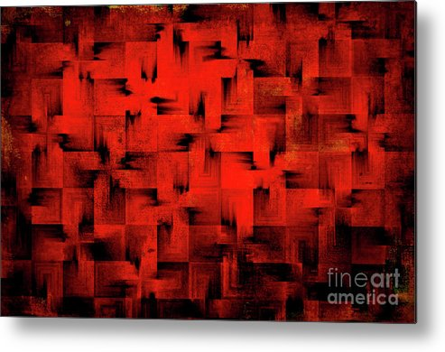 Abstract Metal Print featuring the digital art Inferno by Silvia Ganora