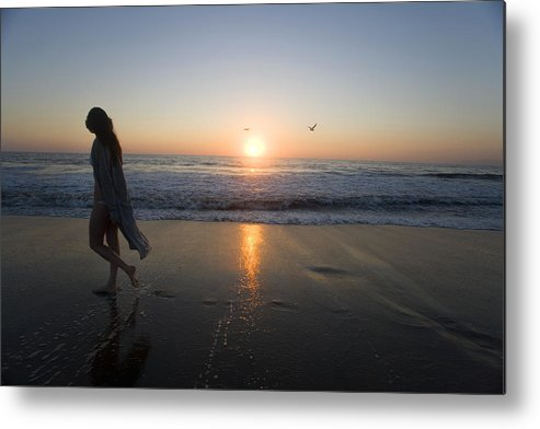 Beach Metal Print featuring the photograph Introspection 2 by Brad Rickerby