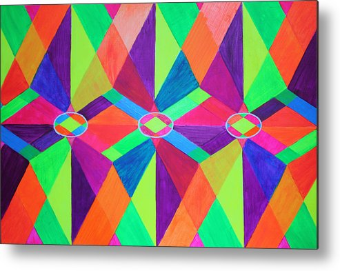 Kaleidoscope Metal Print featuring the painting Kaleidoscope Wise by Ann Sokolovich