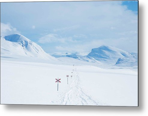 Lapland Metal Print featuring the photograph Lapland by Elisa Locci