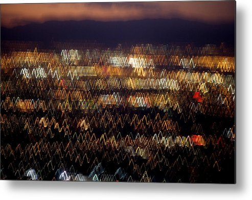 Aerial Metal Print featuring the photograph Las Vegas by Brad Rickerby