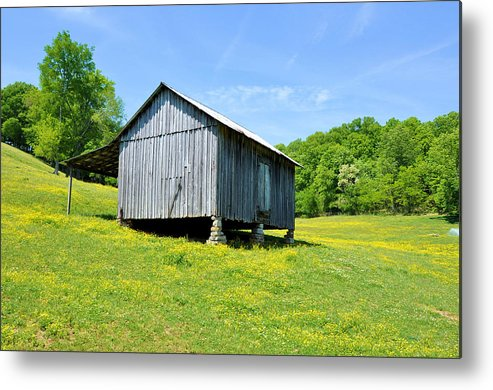 Landscapes Metal Print featuring the photograph Lieper's Fork Cabin by Jan Amiss Photography
