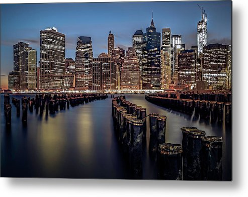America Metal Print featuring the photograph Lower Manhattan Skyline by Eduard Moldoveanu