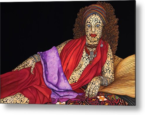 Surrealism Metal Print featuring the painting Magdalena by Tina Blondell