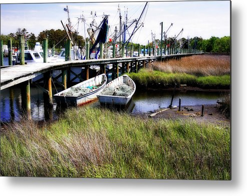 Photo Metal Print featuring the photograph Marsh Harbor 1 by Alan Hausenflock
