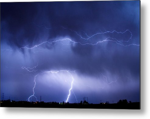 james Insogna Metal Print featuring the photograph May Showers - Lightning Thunderstorm 5-10-2011 by James BO Insogna