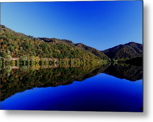 Fall Metal Print featuring the photograph Mountain Reflection by Gary Bydlo