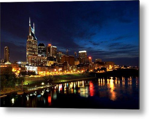 Nashville Metal Print featuring the photograph Nashville Skyline by Mark Currier