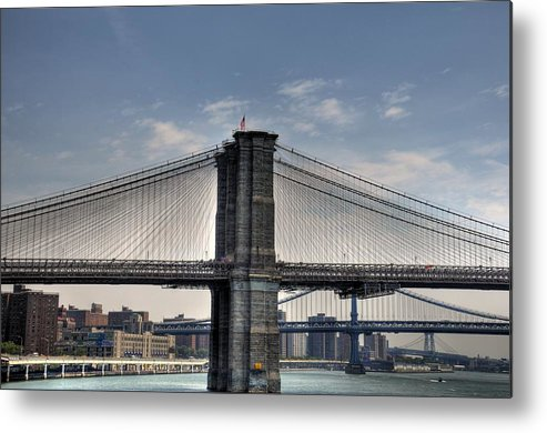 Photograph Metal Print featuring the photograph New York Bridges by Kelly Wade