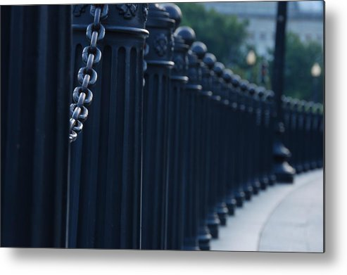 Fence Metal Print featuring the photograph No Way Out by Evia Nugrahani Koos
