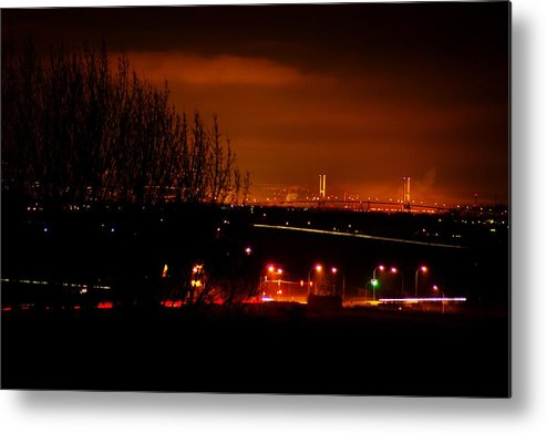 Night Metal Print featuring the photograph Nocturnal Highway by Paul Kloschinsky