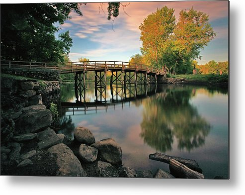 Concord Metal Print featuring the photograph Old North Bridge by Rick Berk