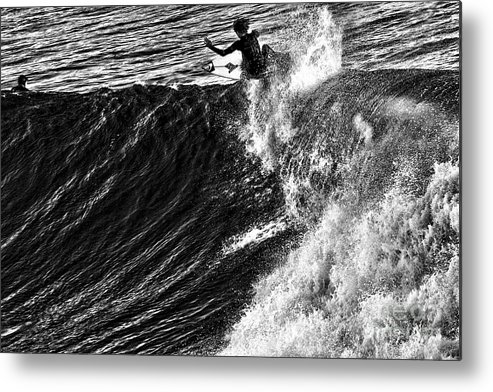 Beach Metal Print featuring the photograph Over The Top by Chuck Kuhn