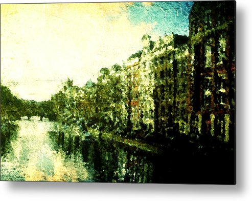 Painted Metal Print featuring the digital art Painted Amsterdam by Andrea Barbieri