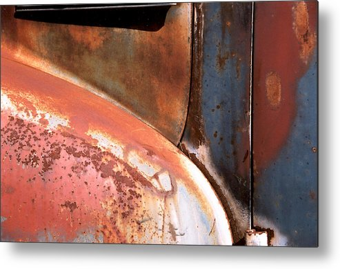 Abstract Metal Print featuring the photograph Panel From Ole Bill by Steve Karol