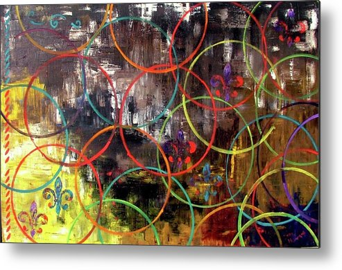 Abstract Metal Print featuring the painting Paris Abstract by Inna Montano