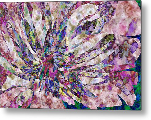 Flower Metal Print featuring the digital art Peony Burst by Gae Helton