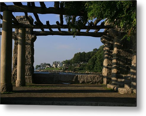 Motgan Memorial Park Metal Print featuring the photograph Pergola by Christopher Kirby