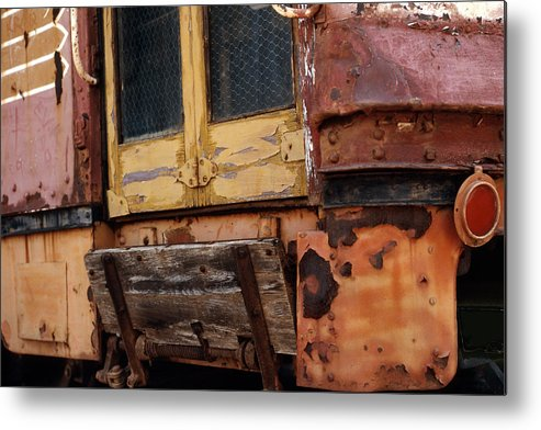 Trolly Metal Print featuring the photograph Perris Trolley by Lawrence Costales